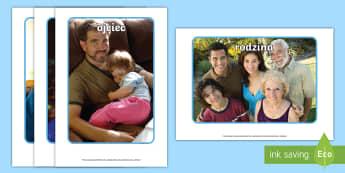Materiały na gazetkę ze zdjęciami Moja rodzina - rodzina, zdjęcia, gazetka, ścienna, rodzinie, matka, ojciec, brat, siostra, pokrewieństwo, drzewo