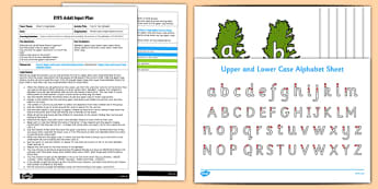 EYFS Carrot Top Alphabet Adult Input Plan and Resource Pack