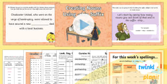 PlanIt Y5 Term 2A W3: Creating Nouns Using -ship Suffix Spelling Pack - Spellings Year 5, Y5, suffix, ship, nouns, suffixes, statutory, SPaG, GPS, spelling, word, lists, pa