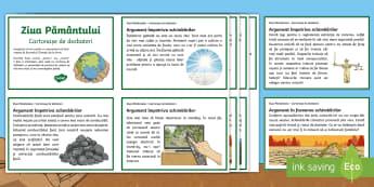 Ziua Pământului Cartonașe de dezbateri - ziua pamantului, clima, salvati pamantul, schimbari climatice, clima, ecologie, încalzire globală,