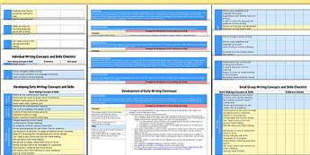 Development of Early Writing EYFS Assessment Pack - development, early writing, eyfs, assessment