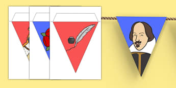 Shakespeare Bunting - shakespeare, display flags, playwright