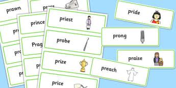 PR Sound Word Cards - sen, sound, pr sound, pr, sen, word cards, word, cards