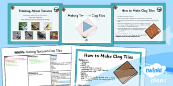Art: Wildlife: Making Textured Clay Tiles UKS2 Lesson Pack 4