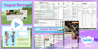PlanIt Year 6 SPaG Lesson Pack: Layout Devices - planit, GPS, presentational devices, headings, sub-headings, columns, bullets, tables, non-fiction