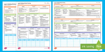 Levels 1 to 4 Writing Weekly Plans Resource Pack - NZ Literacy Resources, literacy, writing assessment, nz writing, assesment, writing planning, planni