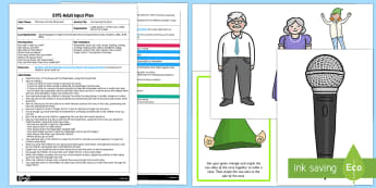 EYFS Interviewing the Elves Adult Input Plan and Resource Pack - The Elves and the Shoemaker, traditional tales, Christmas, cll, c and l, language, speaking, intervi
