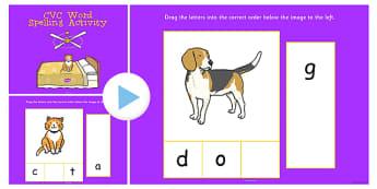 CVC Word Spelling Notebook Activity - cvc, word, spell, activity
