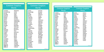 Editable Common Exception Words Year 3 and 4 Bookmark - editable, common exception words, year 3, year 4, bookmarks