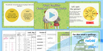 PlanIt Spelling Year 4 Term 2B W5: Word Families Based on Common Words Spelling Pack - Spellings Year 4, Y4, SPaG, GPS, spelling, words, weeks, word family, families, solve, sign, appendi