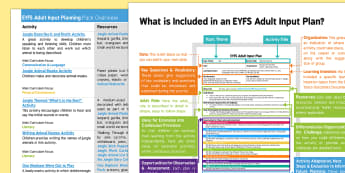 EYFS Adult Input Planning and Resource Pack Overview - Walking Through The Jungle, Julie Lacome, jungle, rainforest, animals,