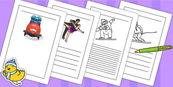 Winter Olympics Writing Frames - olympic, sport, writing, write