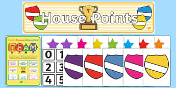 House Points Display Pack