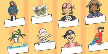 Editable Pirate Labels - pirate, labels, editable labels, label