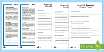 Hanukkah Differentiated Reading Comprehension Activity English/German - Chanuka, Judaism, EAL, German, English-German,,German-translation