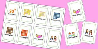 Three Syllable TW Flash Cards - sen, sound, special educational needs, tw, flash cards