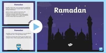 Prezentacja PowerPoint Ramadan - ramadan, powerpoint, ramadam, ramadhan, pp, ppt, religia, religie, islam, muzułmanin, muzułmanie,
