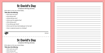 Elderly Care St David's Day Creative Writing Activity - Elderly, Reminiscence, Care Homes, St. David's Day