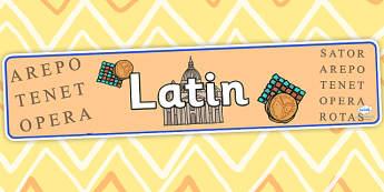 Latin Display Banner - latin, display banner, banner for display, display, banner, header, header for display, header display, display header