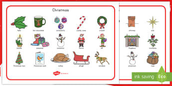 Christmas Word Mat - Christmas, mat, word mat, vocabulary, winter