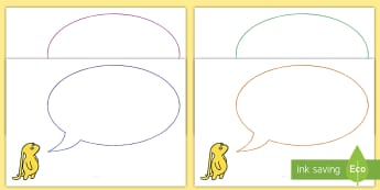 Editable Speech Bubble Cut-Outs to Support Teaching on Beegu - Editable Speech Bubble Cut-Outs to Support Teaching on Beegu - speech, bubbles, editable, bubble, sp