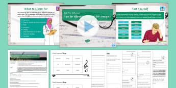 Tips for Effective Listening for Analysis Lesson Pack 1 - KS4, Music, Secondary, Listening, Analysis
