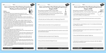 Differentiated Comprehension Marking and Assessment Guide for Teachers to Support Teaching on James and the Giant Peach