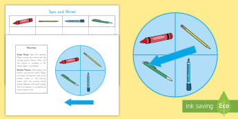 Spin and Write: Name Writing Activity -  Handwriting, ELA, Centers, Small Groups, literacy,
