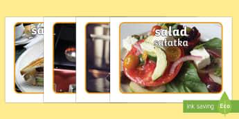 Healthy Eating Cafe Role Play Photos English/Polish - caf, health, eat, food, drink, drinks, restaurant,Polish-translation
