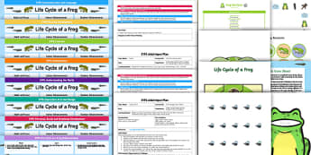 EYFS Life Cycle of a Frog Bumper Planning Pack - Life Cycle of a Frog, early years planning, continuous provision, adult led, enhancements,
