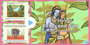 The Story of Rama and Sita PowerPoint - Celebration, lamps, tradition, fees, lampe, EAL