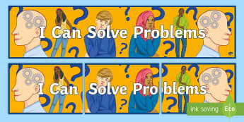 I Can Solve Problems Banner - Key Stage 4 Entry Level, problems, thinking, skills, SEN, motivation
