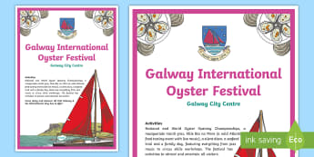 The Galway International Oyster Festival A4 Display Poster - ROI, Galway, Oyster Festival, Display Poster, Classroom Display, Irish Festivals,Irish