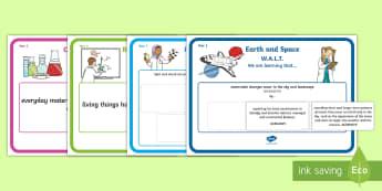 Year 1 Australian Curriculum Science Understandings WALT Display Posters
