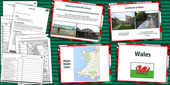 Wales UK Lesson Teaching Pack - welsh, united kingdom, geography