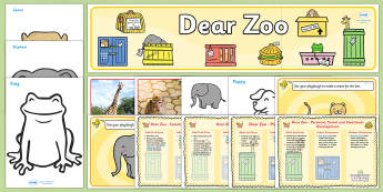 Childminder Resource Pack to Support Teaching on Dear Zoo - child minder, story books