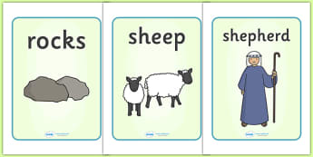 The Lost Sheep Display Posters - the Lost Sheep, sheep, shepherd, lost sheep, display, poster, sign, banner, 100, 99, search, searching, looking for, safe, carried home, bible story, bible, party, happy