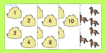 Horse and Hay Number Bonds to 10 - horse and hay, number bonds, 10, number bonds to 10, horse, hay