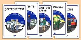 Meserii practicate zi și noapte - Cartonașe