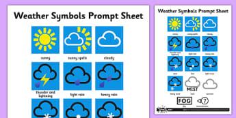 Weather Symbols Activity Sheet - weather, weather symbols, activity, sheet, science, symbols, worksheet