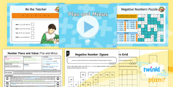 PlanIt Y5 Number and Place Value Lesson Pack Number Problems (4) - Number and Place Value, Solve number and practical problems that involve all of the above, negative,