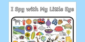 I Spy With My Little Eye Activity 2 - activity, I spy, game