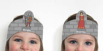 Medieval Castle Role Play Headbands - castles and knights, props