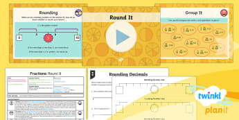 PlanIt Y4 Fractions Round Decimals Lesson Pack - Decimals, decimal number, rounding, whole number, one decimal place, 1 decimal place, tenths