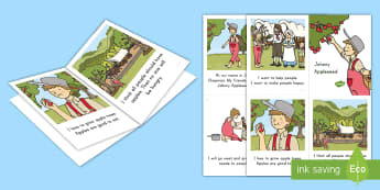 Johnny Appleseed Emergent Reader - Johnny Appleseed, John Chapman, Heading West, Fall, Emergent Reader, American legend