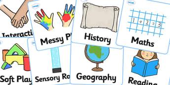 SEN Visual Timetable for School Large - sen visual timetable, school visual timetable, large visual timetable cards, large sen visual timetable, subjects