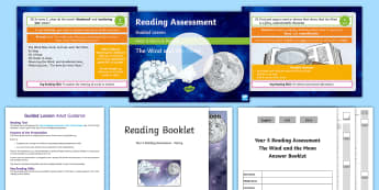 Year 5 Term 3 Poetry Reading Assessment Guided Lesson Teaching Pack - comprehension, space, moon, wind, understanding, english, literacy