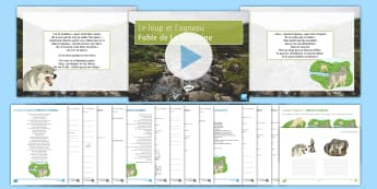 Pâques: Le loup et l'agneau Differentiated Reading Comprehension Activity French - KS4, French, Easter, Pâques, GCSE, reading, comprehension, differentiated, inference, poetry, poem,