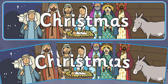 Christmas Display Banner (Christmas) - Christmas, xmas, display banner, Santa, Father Christmas, tree, advent, nativity, santa, father christmas, Jesus, tree, stocking, present, activity, cracker, angel, snowman, advent , bauble