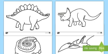 Dinosaur Themed Coloring Activity - dinosaur, color, coloring, activity, art